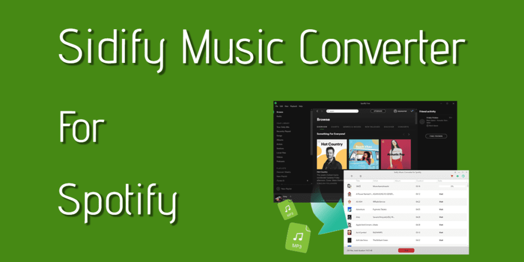 Sidify Music Converter 2.0.6 Crack +Serial Key (Latest) Free Download